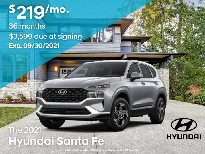 New 2021 Hyundai Santa Fe SE FWD
