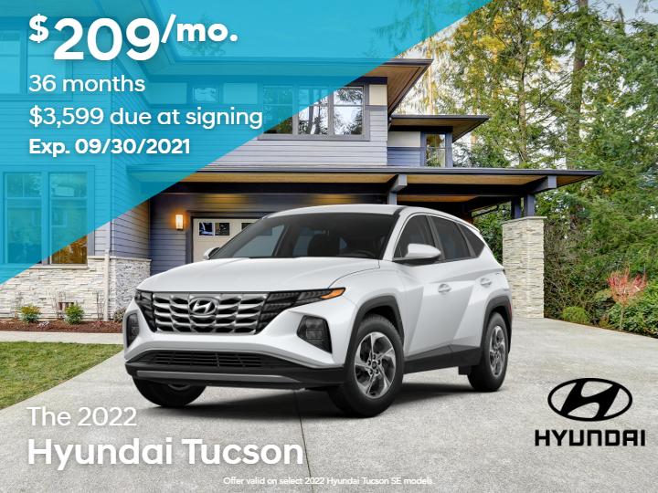 New 2022 Hyundai Tucson SE FWD