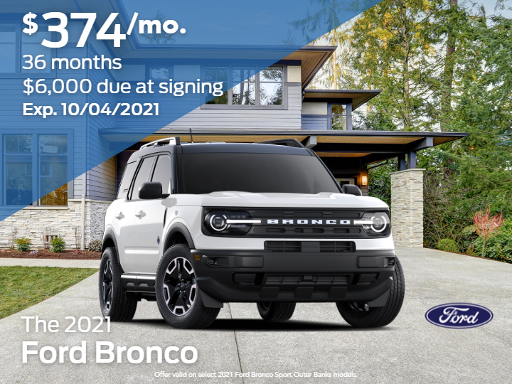 New 2021 Ford Bronco Sport Outer Banks AWD