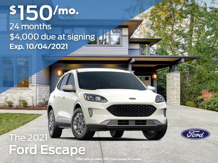New 2021 Ford Escape SE AWD