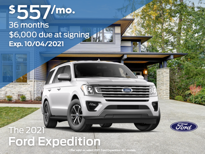New 2021 Ford Expedition XLT 4x4