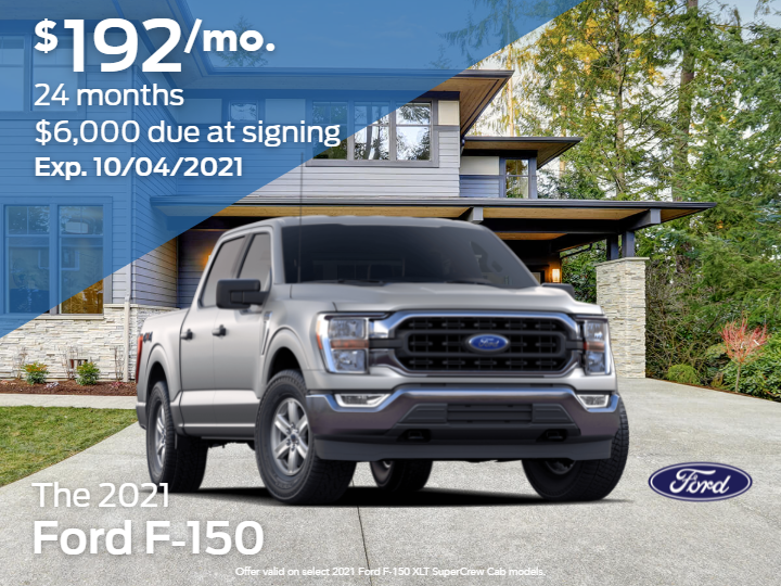 New 2021 Ford F-150 XLT 4WD