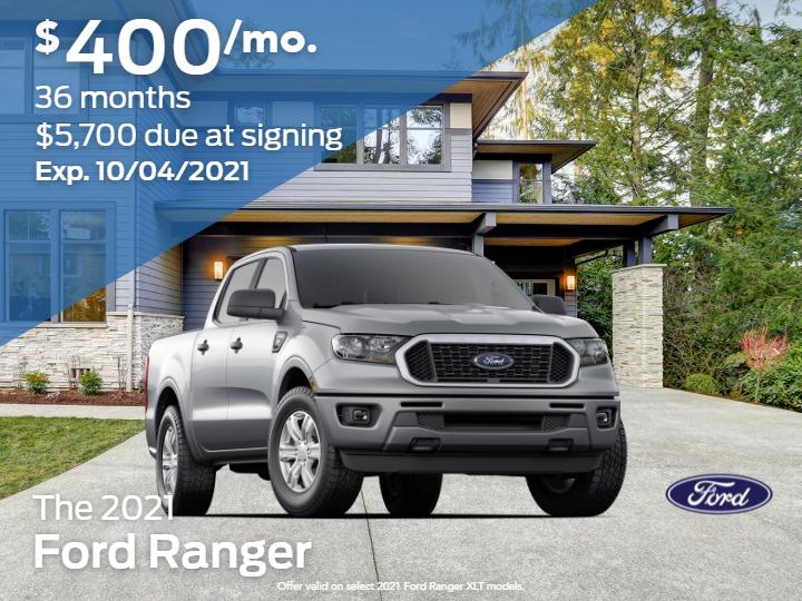 New 2021 Ford Ranger XLT 4X4