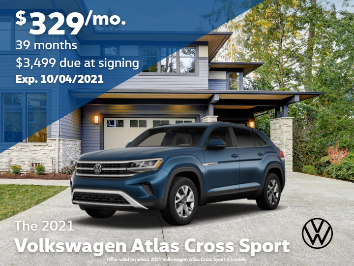 2021 Volkswagen Atlas Cross Sport S with 4MOTION Automatic Transmission
