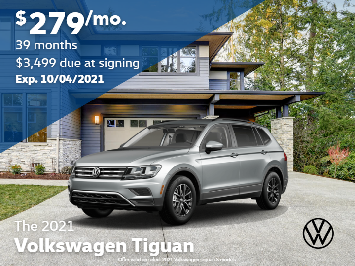 2021 Volkswagen Tiguan S with 4MOTION Automatic Transmission