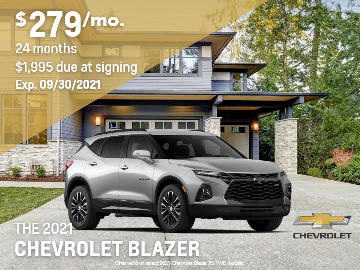 New 2021 Chevrolet Blazer RS FWD