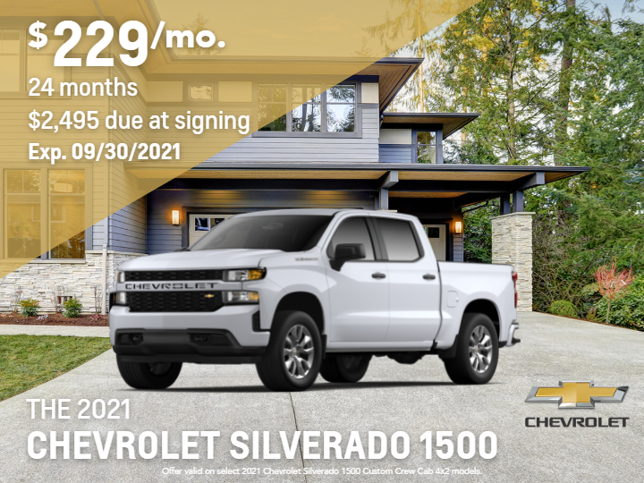 New 2021 Chevrolet Silverado 1500 Custom 4WD Crew Cab