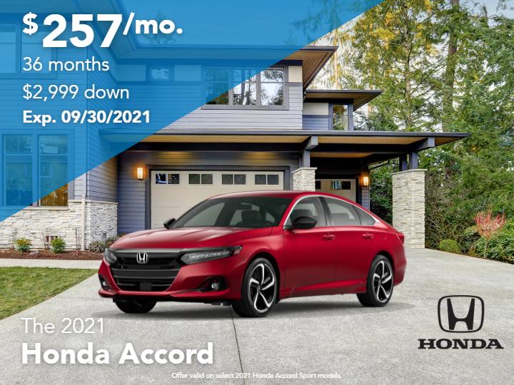 New 2021 Honda Accord Sport FWD Sedan Automatic