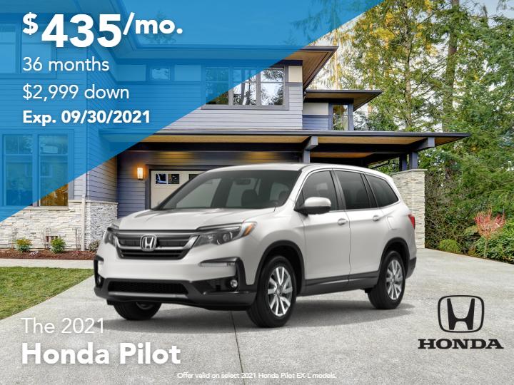 New 2021 Honda Pilot EX-L AWD 3.5L V6 Automatic 8 Passenger