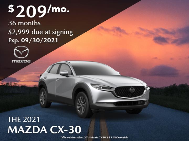 New 2021 Mazda CX-30  2.5S FWD