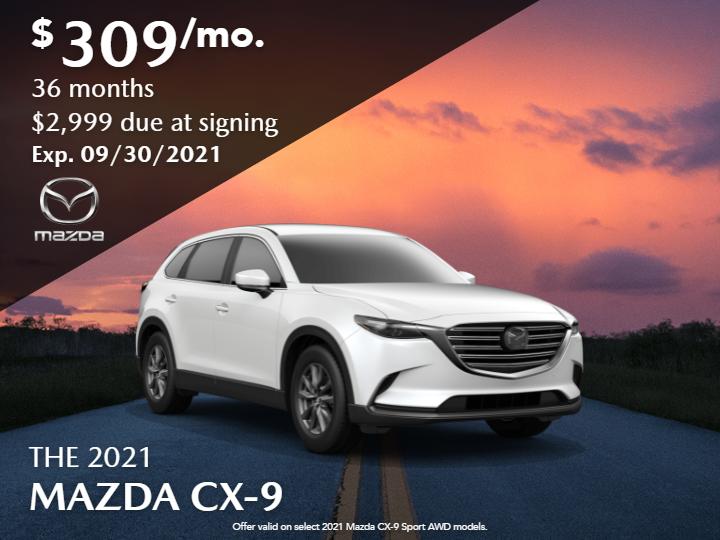 New 2021 Mazda CX-9 Sport FWD Automatic