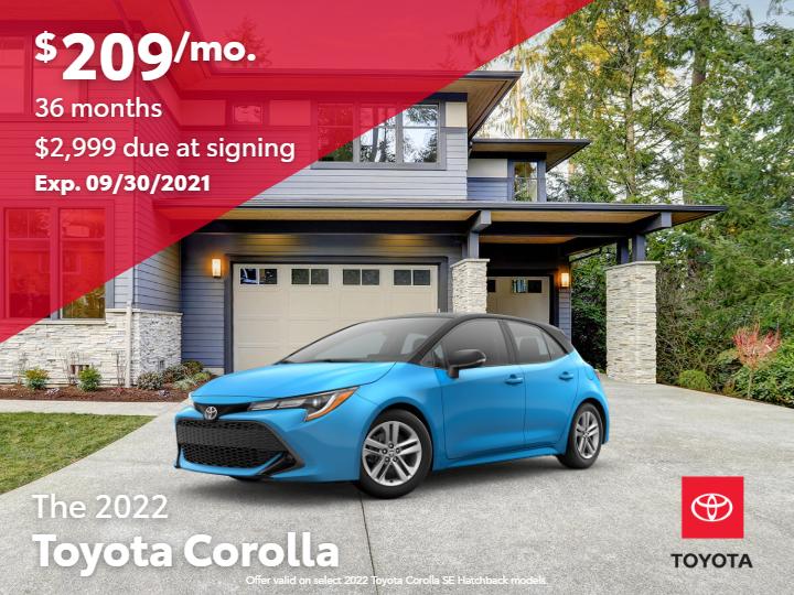 New 2022 Toyota Corolla SE Hatchback FWD 4D Sedan