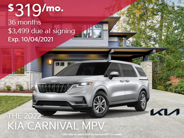 New 2022 Kia Carnival MPV LX