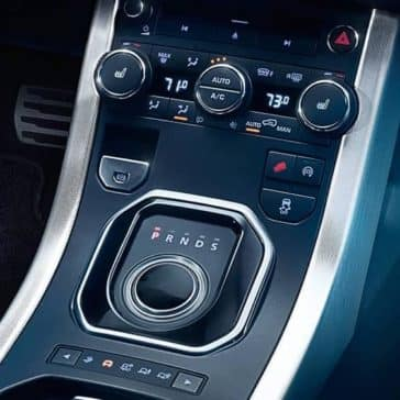 2019 Range Rover Evoque controls