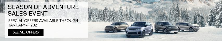 Land Rover Season of Adventure Sales Event