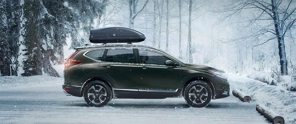 2019 Honda CR V Parked in Snow