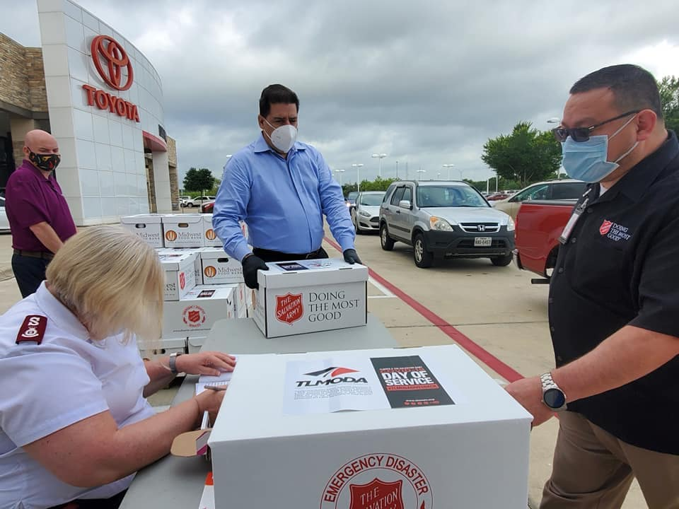 Food Drive with Salvation Army at Lost Pines Toyota