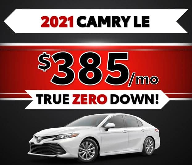 2021 Toyota Camry LE Black Friday Sale at Lost Pines Toyota