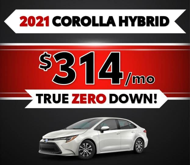 2021 Toyota Corolla Hybrid Black Friday Sale at Lost Pines Toyota