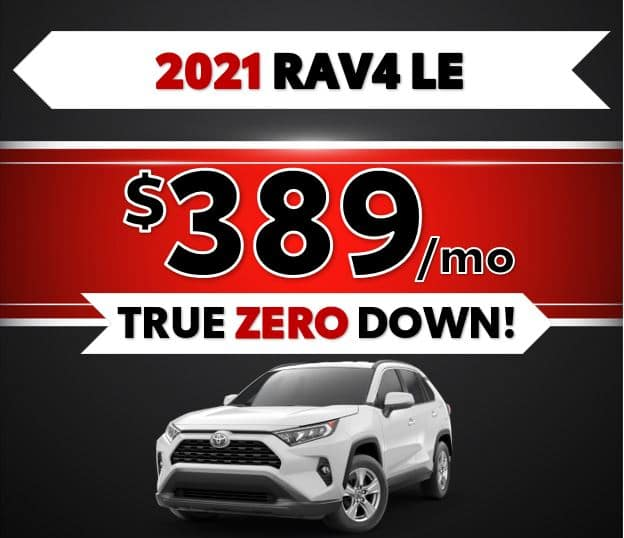 2021 Toyota RAV4 LE Black Friday Sale at Lost Pines Toyota