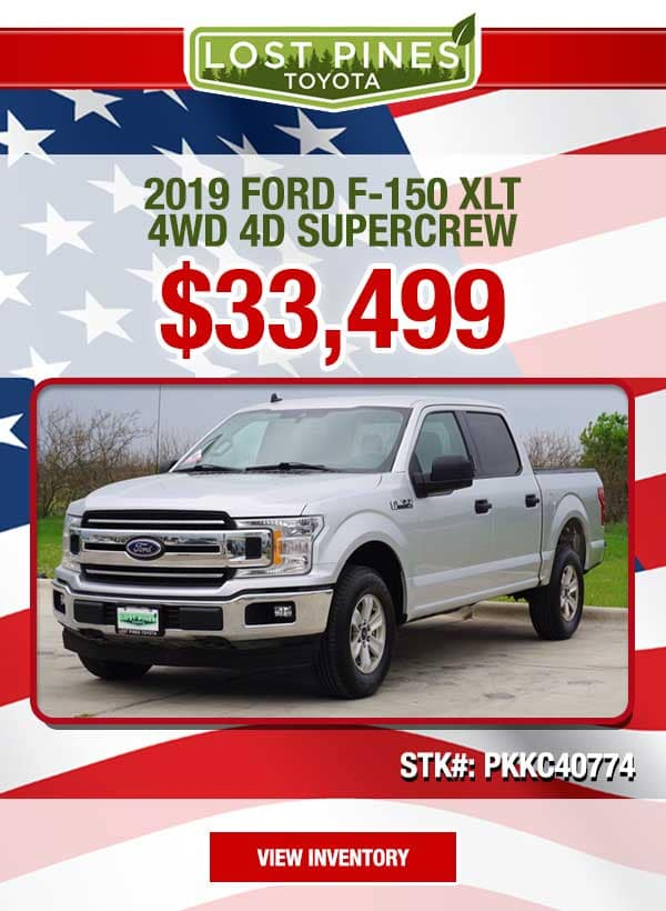 2019 Ford F-150 XLT 4WD 4D SuperCrew for $33,499.00