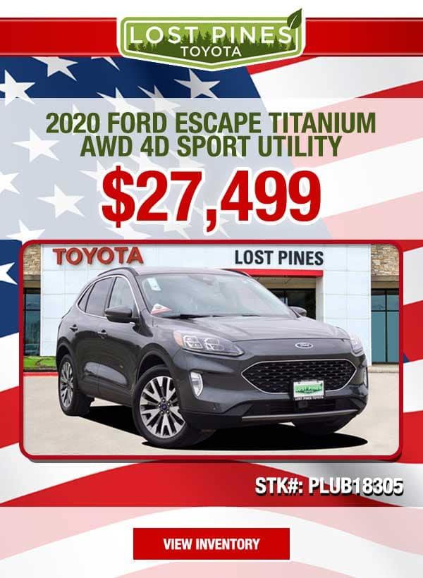 2020 Ford Escape Titanium AWD 4D Sport Utility for $27,499.00