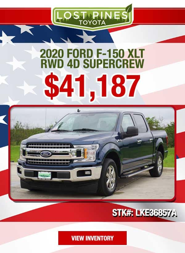 2020 Ford F-150 XLT RWD 4D SuperCrew for $41,187.00
