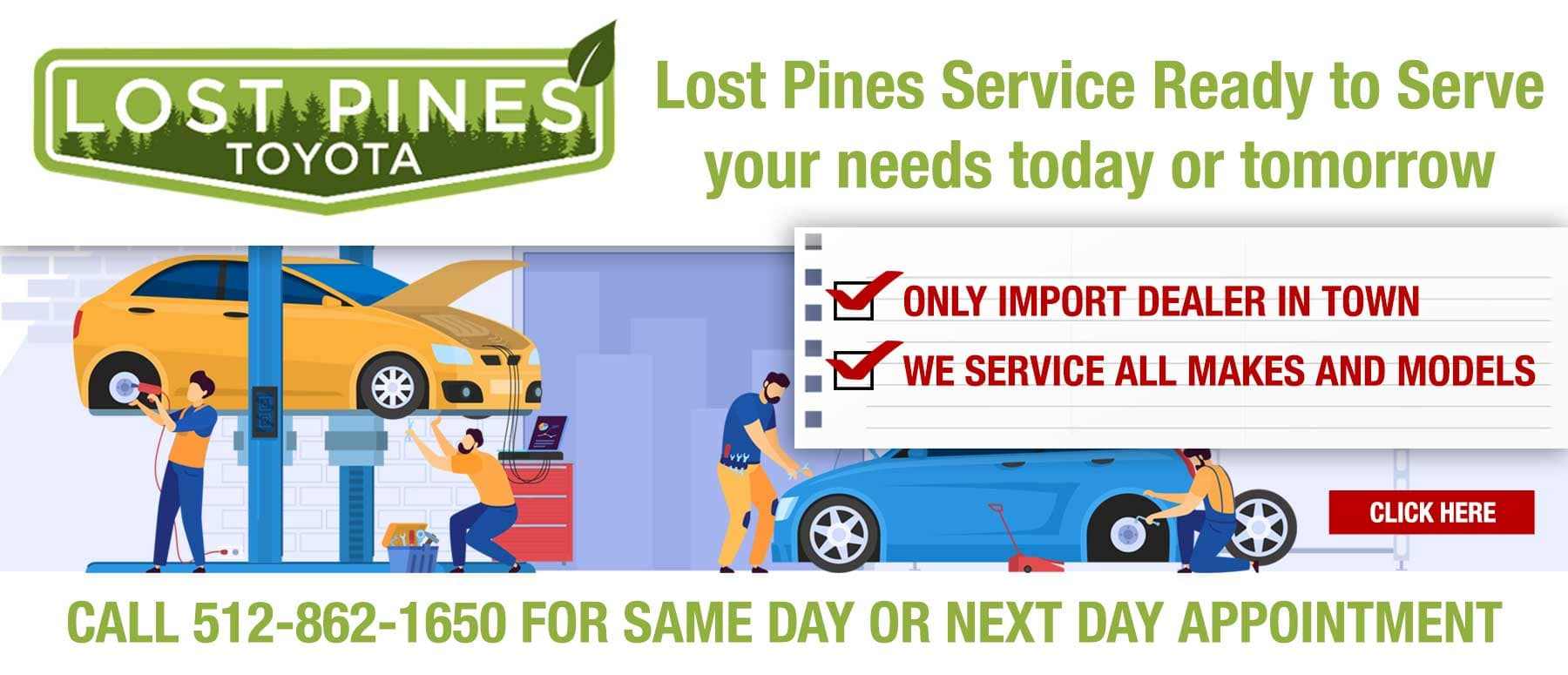 Lost Pines Service Ready to Serve Your Needs Today Or Tomorrow
