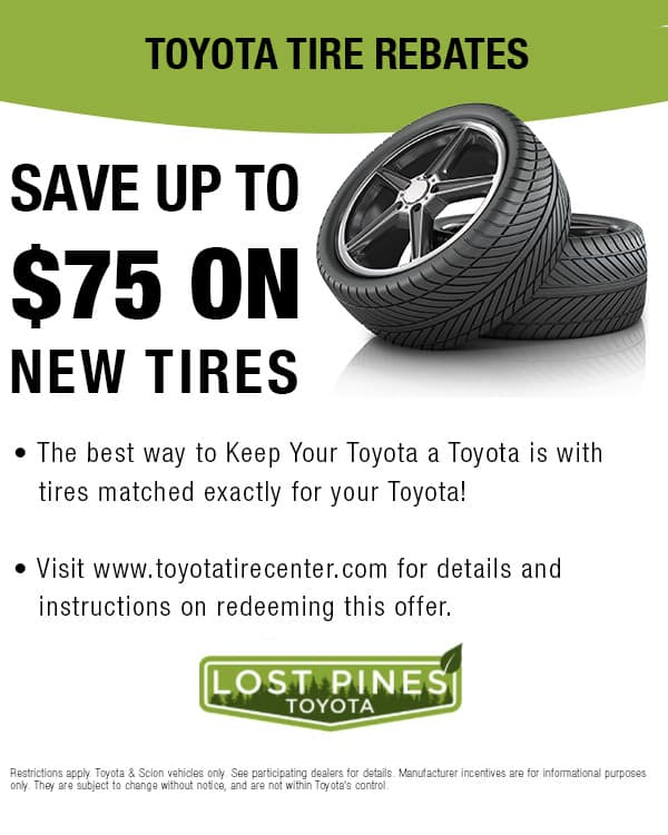 Save Up to $75 on New Tires