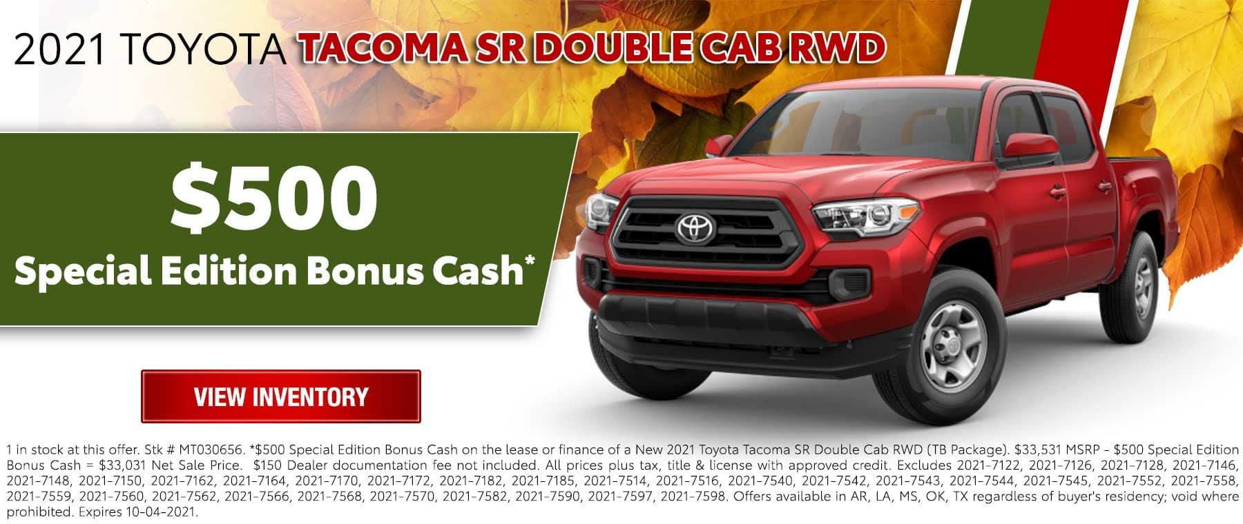 New 2021 Toyota Tacoma SR Double Cab RWD