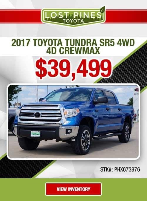 2017 Toyota Tundra SR5 4WD 4D CrewMax