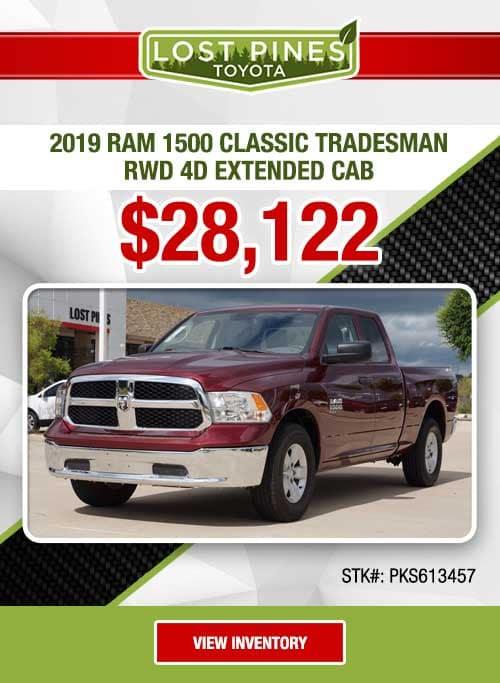 2019 Ram 1500 Classic Tradesman RWD 4D Extended Cab