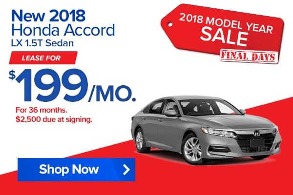New 2018 Honda Accord LX 1.5T Sedan