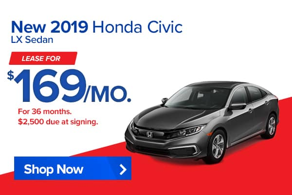 New 2019 Honda Civic LX Sedan