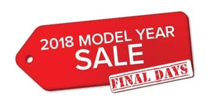 2018 Model Year Sale - Final Days