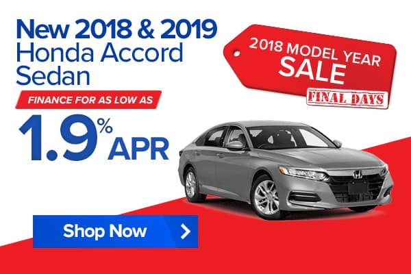 New 2018 and 2019 Honda Accord Sedan