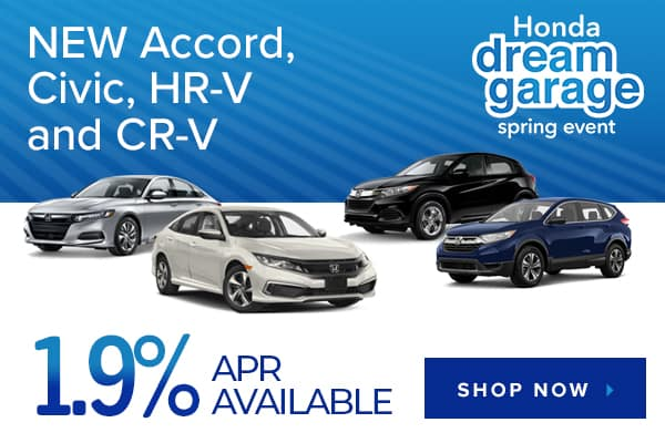 New Accord, Civic, HR-V and CR-V