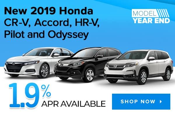 New 2019 Honda CR-V, Accord, HR-V, Pilot and Odyssey