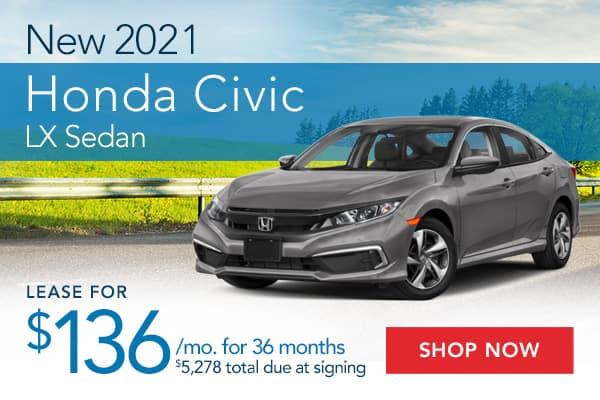 New 2021 Honda Civic LX Sedan