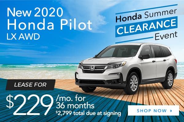 New 2020 Honda Pilot LX AWD
