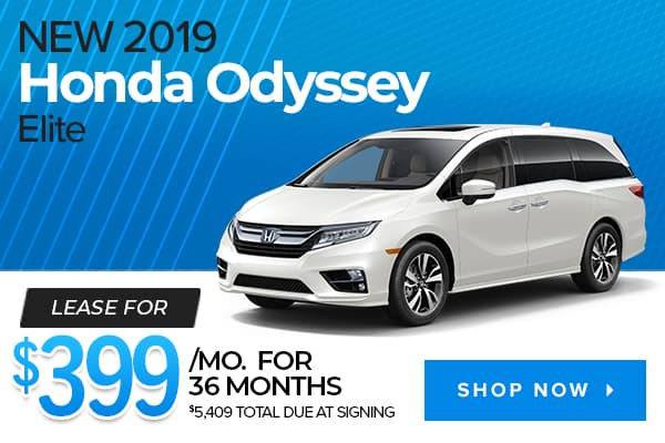 New 2019 Honda Odyssey Elite