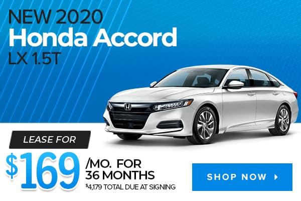 New 2020 Honda Accord LX 1.5T