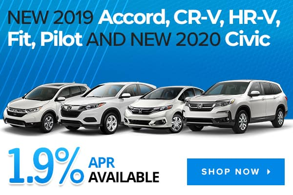 New 2019 Honda CR-V, Accord, HR-V, Fit, Pilot and New 2020 Civic