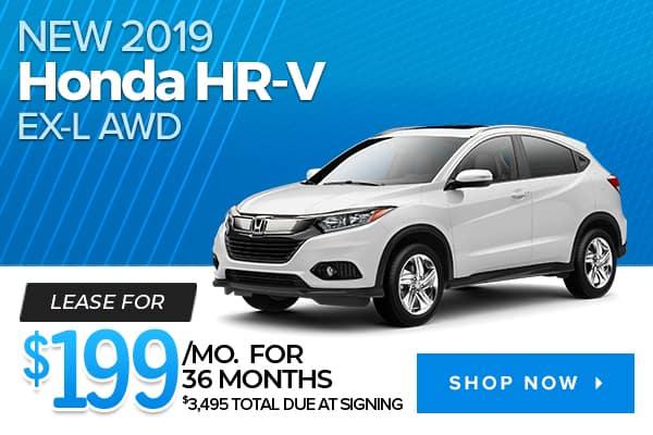 New 2019 Honda HR-V EX-L AWD