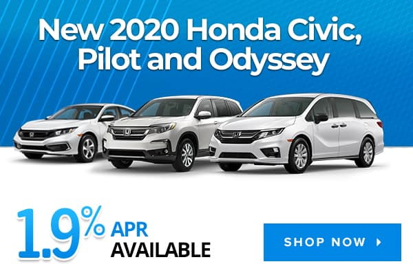 New 2020 Honda Civic, Pilot and Odyssey