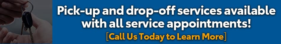 pickup and drop off available for service