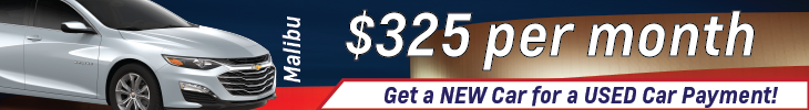 may Malibu payment as low as 325 per month