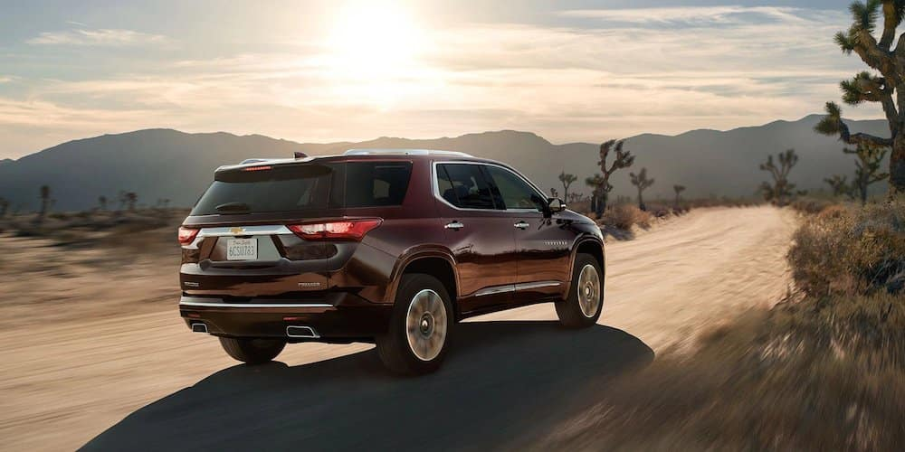 2019 Premier Chevrolet Traverse on Dirt Road
