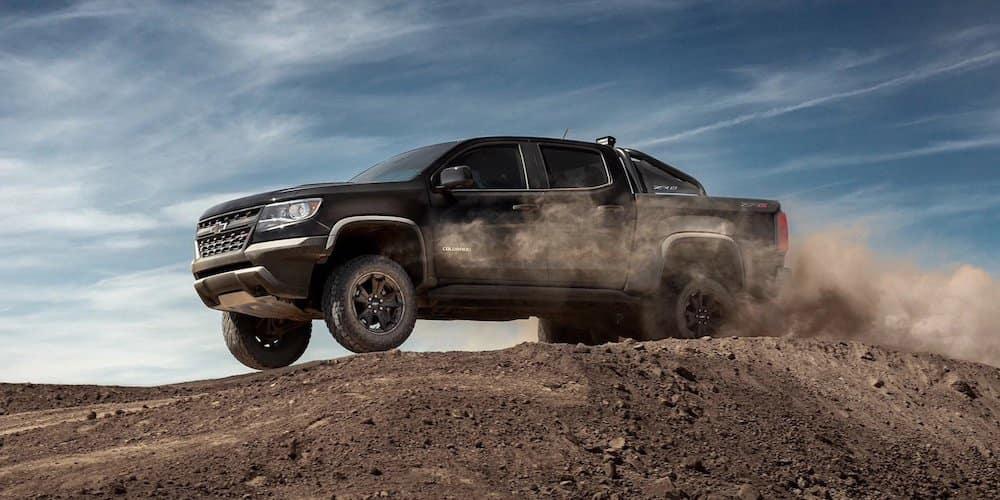 Black 2020 Chevy Colorado on Dirt Road