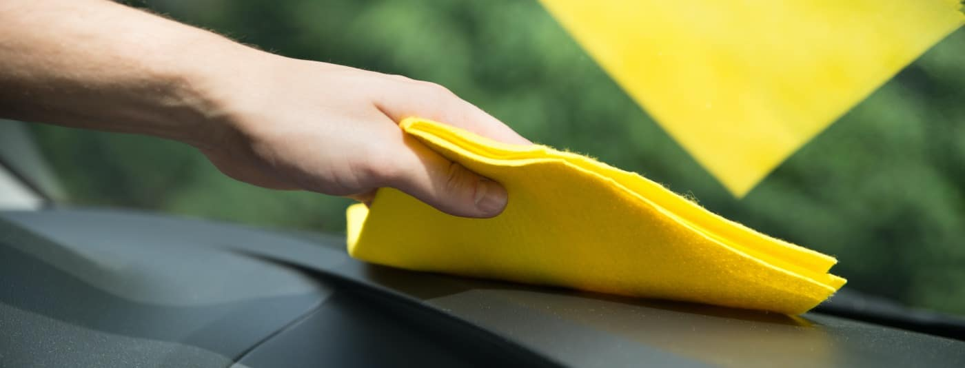 Cleaning interior windshield